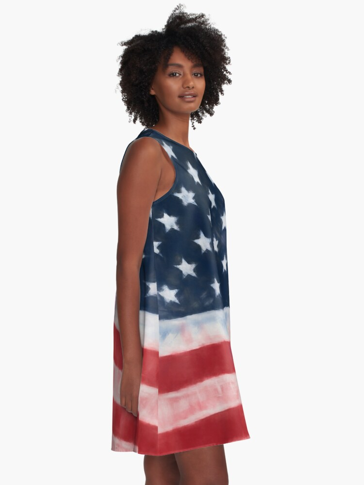 Alternate view of Stars and Stripes No. 1, Series 1 A-Line Dress