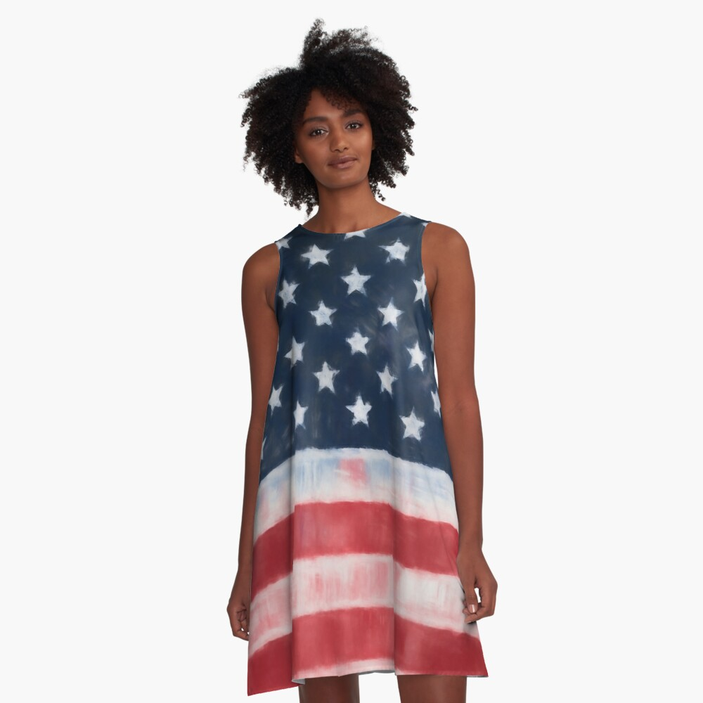 Stars and Stripes No. 1, Series 1 A-Line Dress
