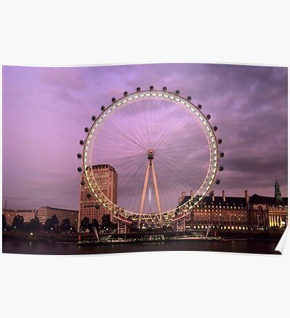 London Eye at Sunset Poster