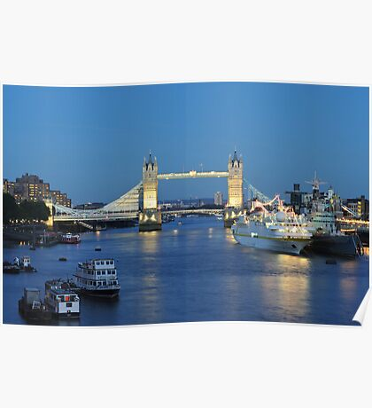Tower Bridge at Dusk Poster