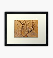 Tree in a sand forest Framed Print