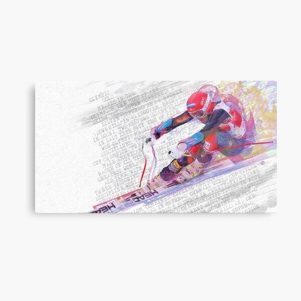 Bode Miller ski racing art  Metal Print