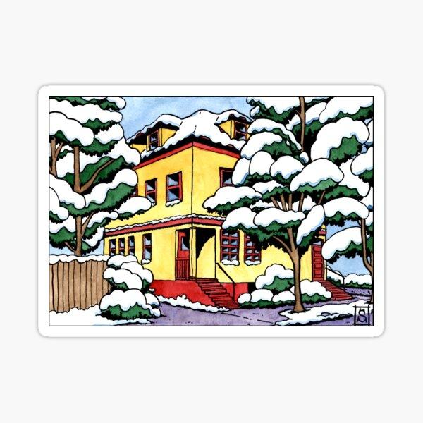 La maison enneigée Sticker