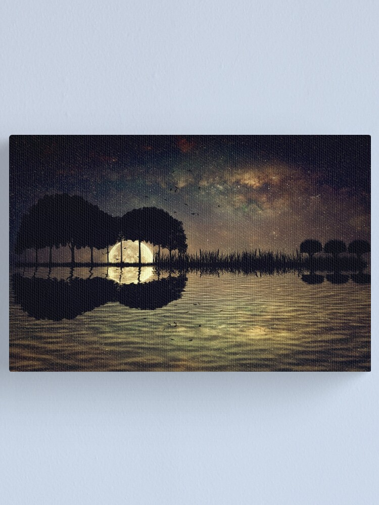 Alternate view of guitar island moonlight Canvas Print