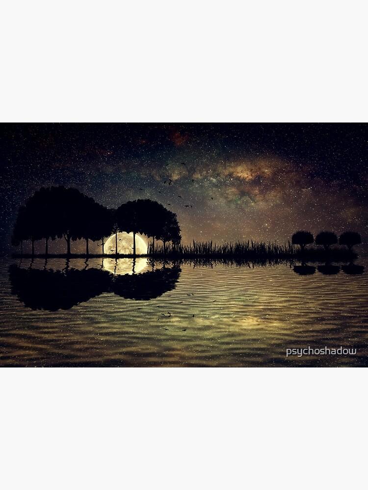 guitar island moonlight by psychoshadow