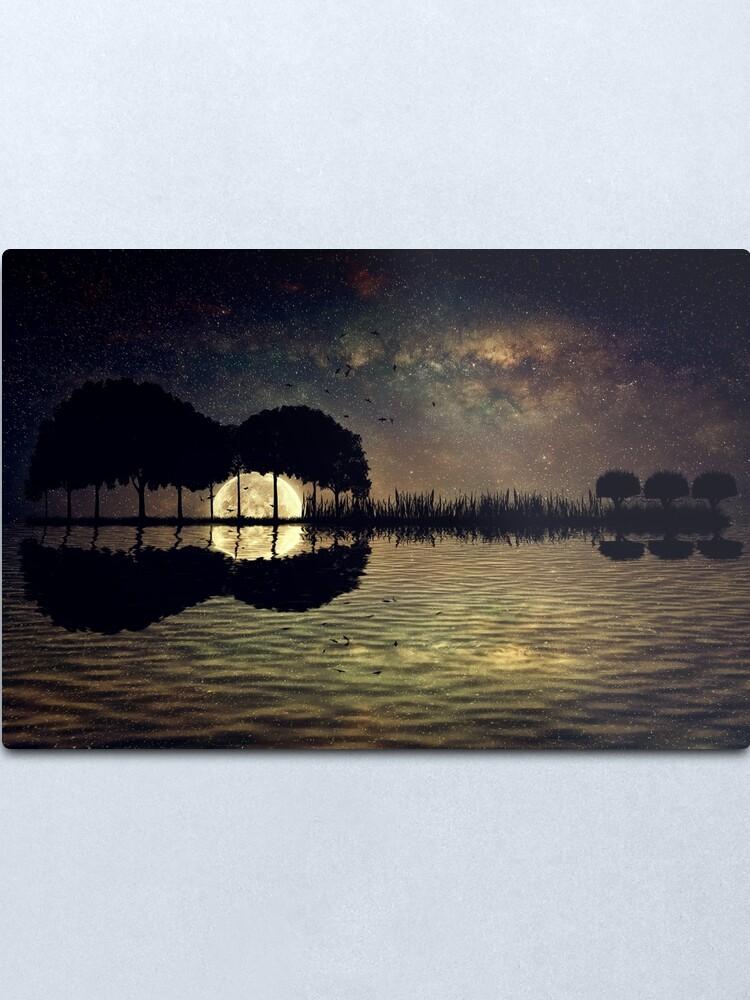 Alternate view of guitar island moonlight Metal Print