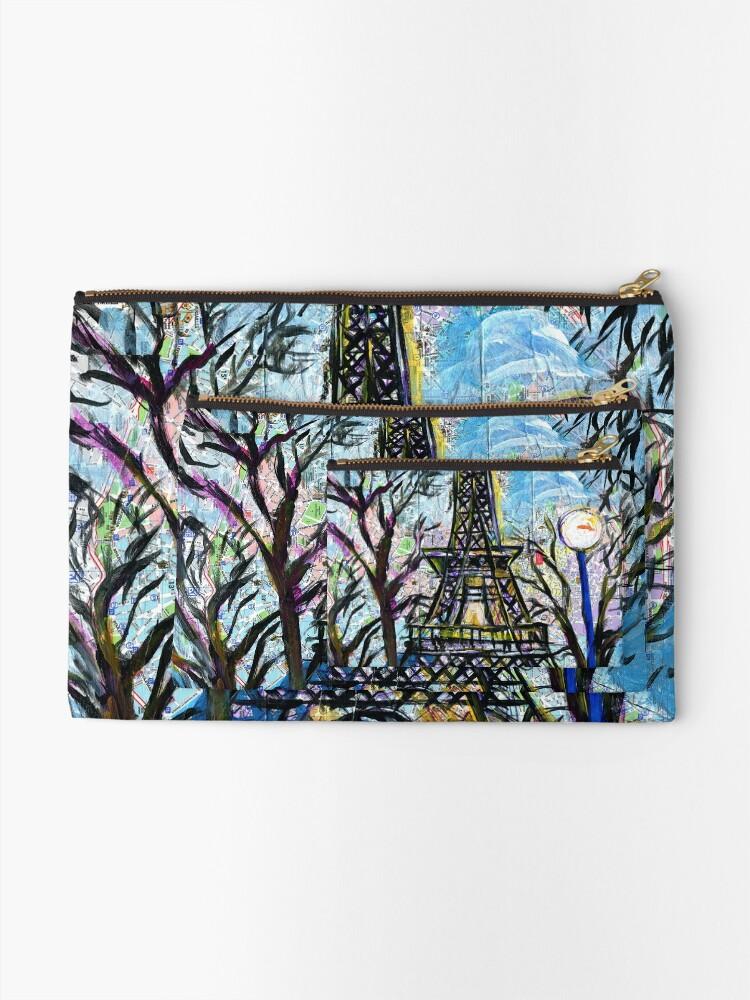 Alternate view of Eiffel Tower Zipper Pouch