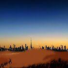 Dubai Skyline and desert by Adam Adami