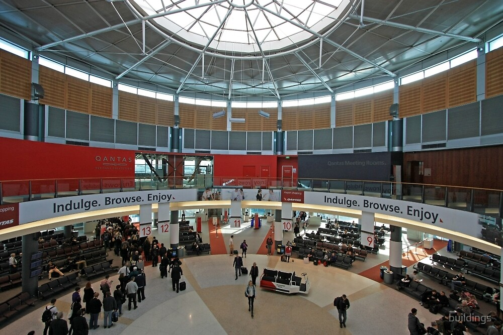 Qantas Terminal 2, Sydney Australia (interior) by buildings