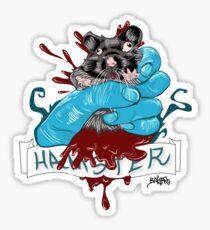 Hamster explosion Sticker
