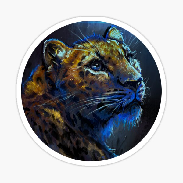 Leopard Painting Sticker