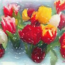 My tulips in pastels - red-orange  by steppeland