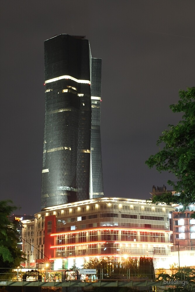 Bakrie Tower (by night) by buildings