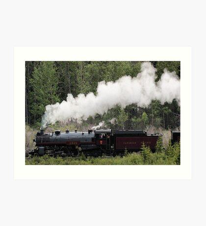 Whoo Hooo ---- #2816 Steam  Engine To Canmore Art Print