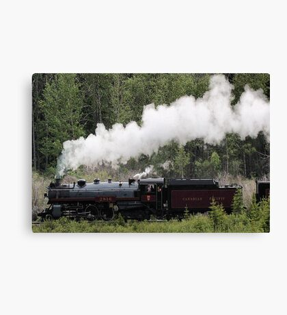 Whoo Hooo ---- #2816 Steam  Engine To Canmore Canvas Print