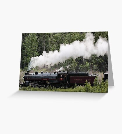 Whoo Hooo ---- #2816 Steam  Engine To Canmore Greeting Card