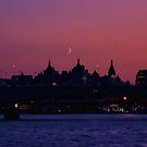 Moon over London by Dean Messenger