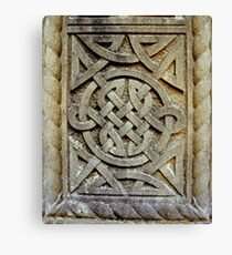 Celtic Knotwork in Stone Canvas Print