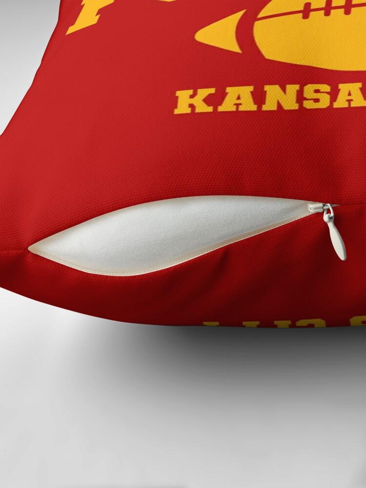 Alternate view of Sunday Funday Kansas City Throw Pillow