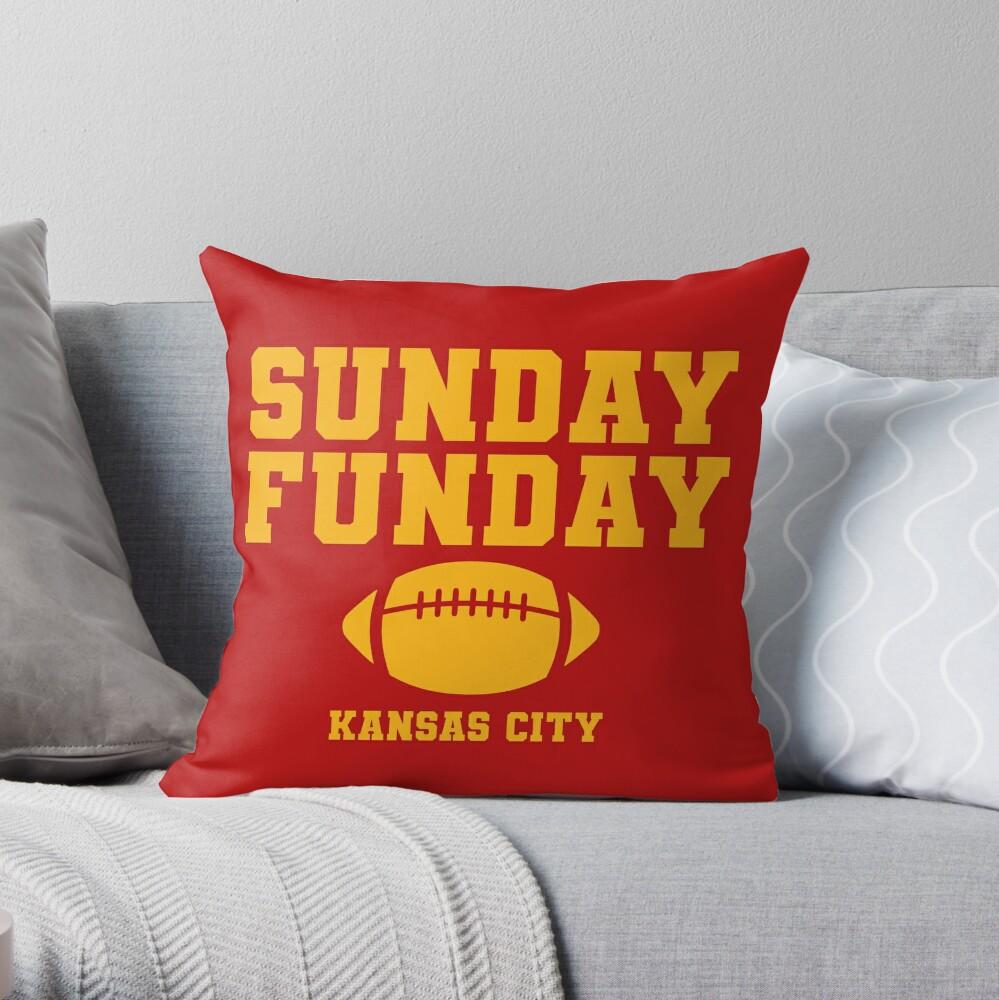 Sunday Funday Kansas City Throw Pillow