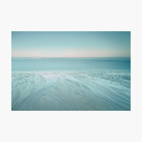 Blue Hour, Cambois Beach Photographic Print