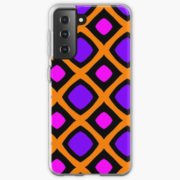 Purple and fuchsia square - Pop design Samsung Galaxy Soft Case