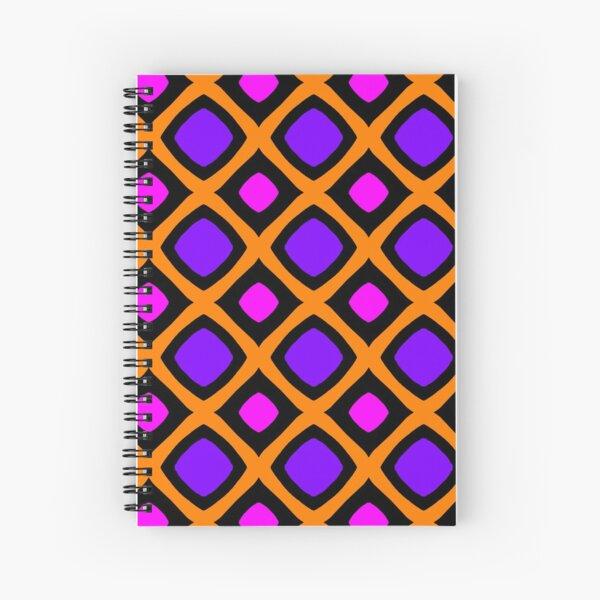 Purple and fuchsia square - Pop design Spiral Notebook