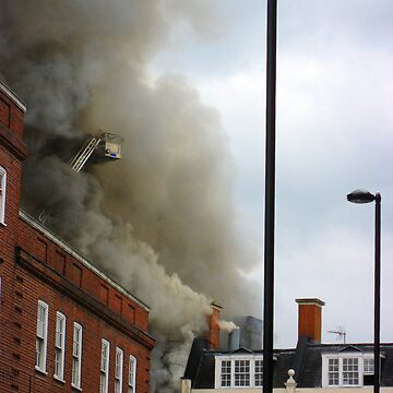 A Fire in Brixton by orlaphoto