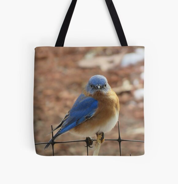 Eastern Bluebird All Over Print Tote Bag