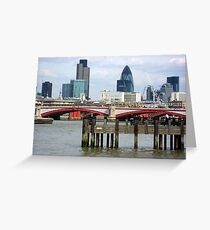 London's Skyline Along The Thames Greeting Card