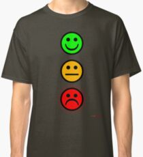 Smiley Traffic Lights - Green For Go Classic T-Shirt