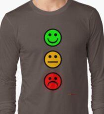 Smiley Traffic Lights - Green For Go Long Sleeve T-Shirt