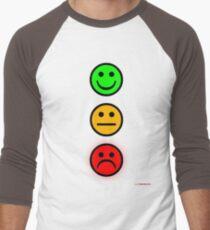 Smiley Traffic Lights - Green For Go Men's Baseball ¾ T-Shirt