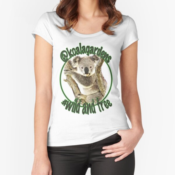 Maxine wild and free koala gardens Fitted Scoop T-Shirt