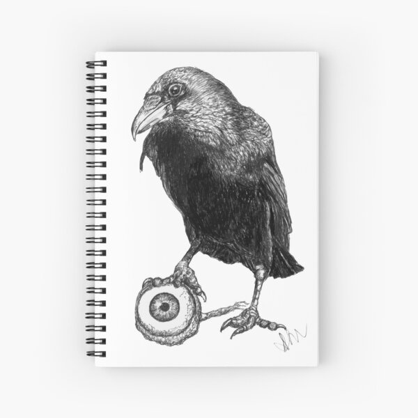 Raven Treasure Spiral Notebook