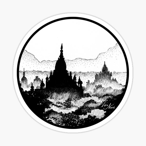 Myanmar Illustration Sticker