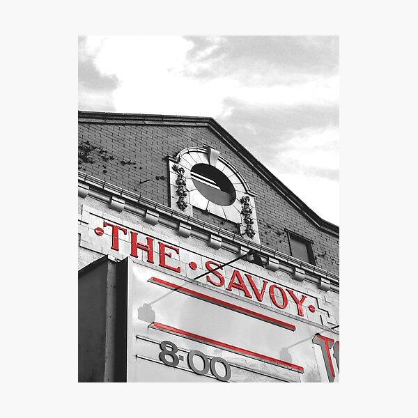 The Savoy Cinema Heaton Moor Stockport Cheshire Photographic Print