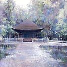 Mido( Temple)in the rain by vasenoir