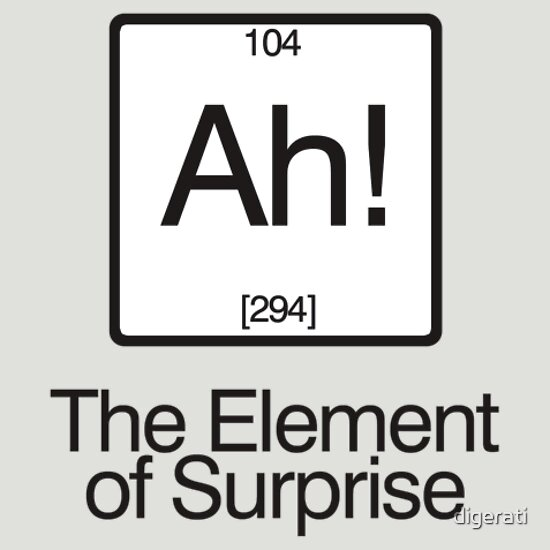 TShirtGifter presents: The Element of Surprise