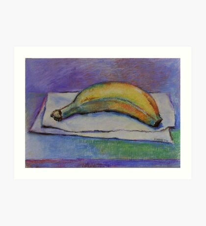 Organic Breakfast!- Original Pastel Painting Drawing by Cuban Artist Magaly Burton - 7.25 x 10 Art Print