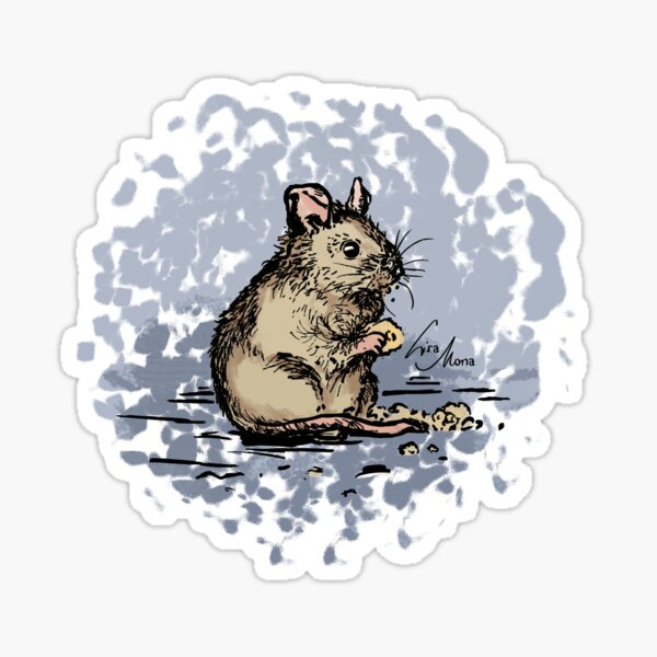 Maus Illustration Sticker