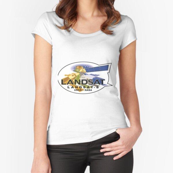 Landsat 8 Logo Fitted Scoop T-Shirt