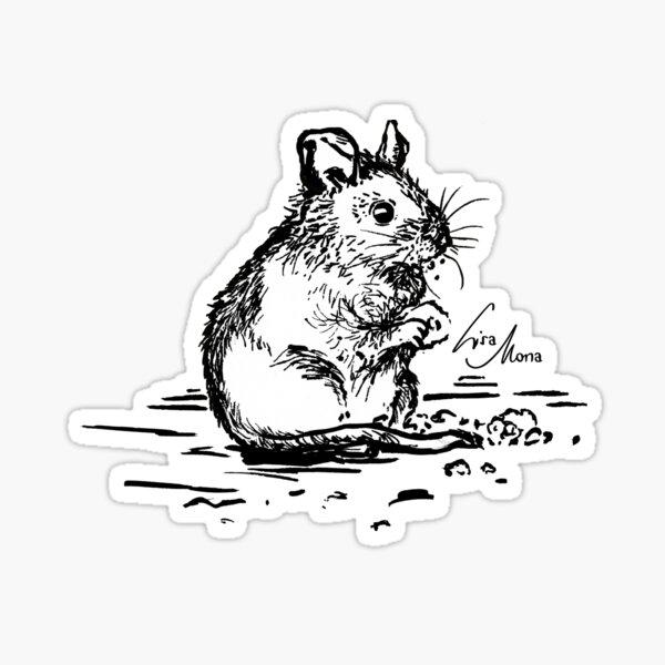 Maus Schwarz-Weiß Sticker