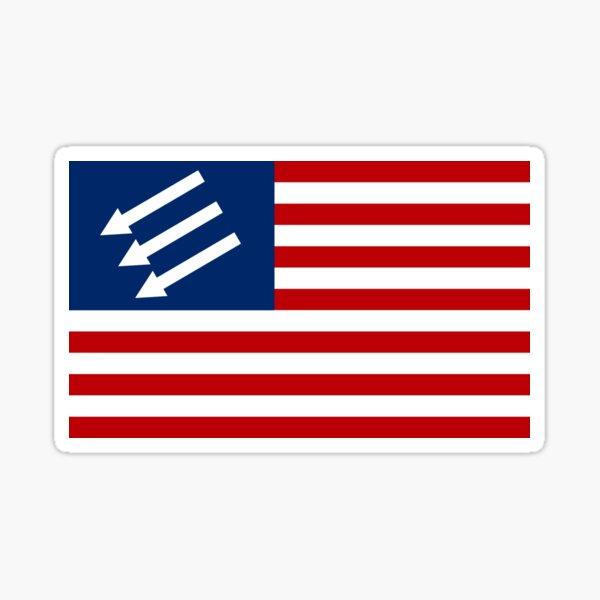 Anti-Fascist American Flag Sticker