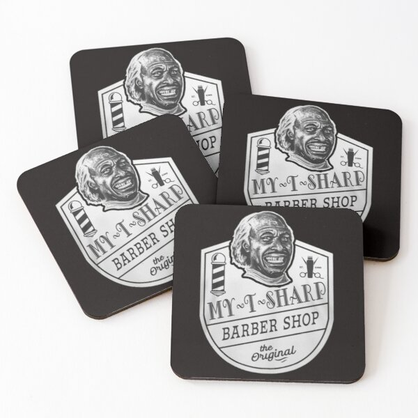 My T Sharp - Barber Shop - Coming to America Coasters (Set of 4)