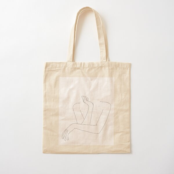 Folded arms line drawing - Anna Cotton Tote Bag