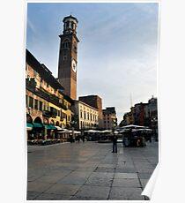 Verona - Piazza Erbe Poster