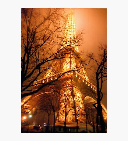 Misty Eiffel Tower, Paris  Photographic Print