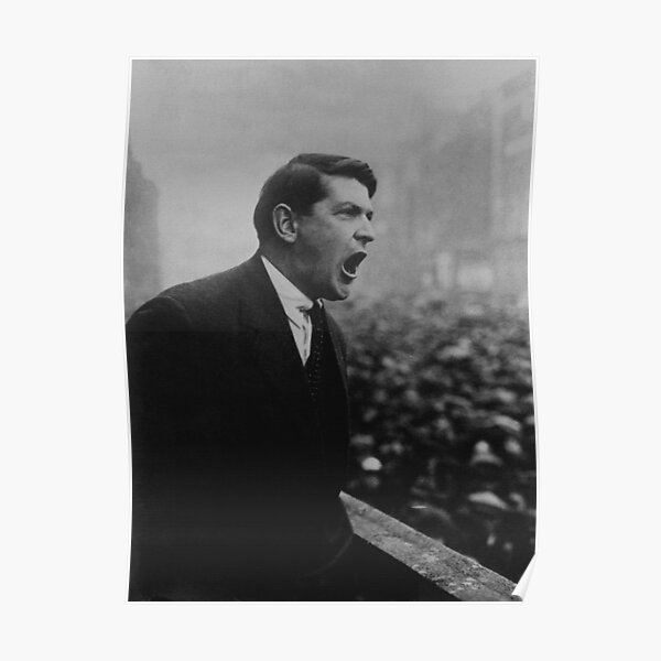 Michael Collins Speaking To A Dublin Crowd - 1922 Poster