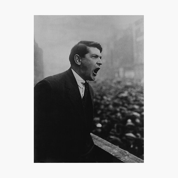 Michael Collins Speaking To A Dublin Crowd - 1922 Photographic Print